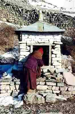 Picture Muktinath nun at the Sound Chorten