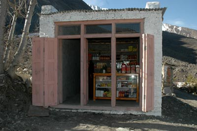 The little shop of the Muktinath nuns, just after the main gate.