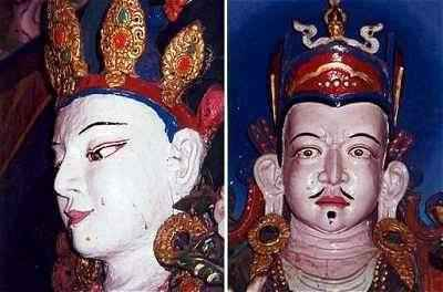 Picture of Chenrezig and Padmasambhava in Sangdo Gompa - Annpurna - Nepal